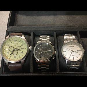 I'm selling a Bulova, Citizen and Columbia watch.